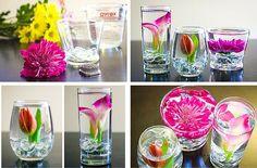 DIY flores sumergidas