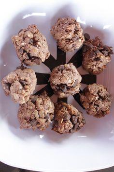Chocolate Coconut Protein Cookie Balls via Healthy Diva Eats