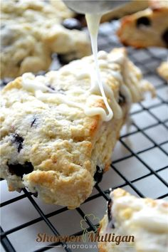 Lemon Blueberry Scones w/ Lemon Glaze - Shannon Mulligan Photography