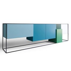 This colourful buffet by #mocaline stands lovely in a room! All the boxes are at different levels the frame seems to keep all boxes together but doesn't succeed. This in combination with the colors is the eyecatcher of the concept. The end result is a rigid designed sideboard with a pleasant character. Framed is available in 4 basic forms and is for sale in specialized design shops.  Shop it now on #ArchiproductsShop!  #archiproducts #design