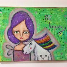 Todays Mantra  #etsy #art #mixedmedia #acatlikecuriosity #adoreyourself #originalart #artoncanvas #homedecor #whimsical http://etsy.me/2CBKTF7