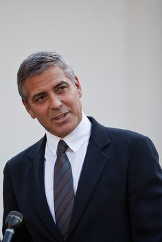 George Clooney    Actor George Clooney speaks outside the West Wing to reporters after meeting with President Barack Obama about his recent trip to Sudan at the White House in Washington on Tuesday, Oct. 12, 2010. (Photo/Stephen Masker)