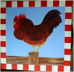 Rooster barn quilt