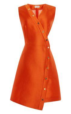 Cutout Asymmetrical Snap Dress