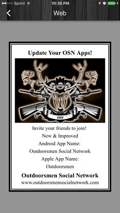 Join us at Outdoorsmen Social Network today!! Free to join. We want all sports!!