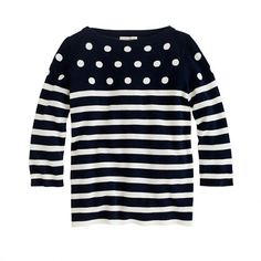 Girls' dots and stripes sweater #ConvertToBlack