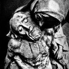 'The Protector' by Heather King Heather King, The Protector, Black And White Photography, My Images, Statue, Prints, Black White Photography, Bw Photography, Sculptures