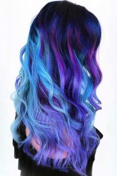 Stunning Ideas Of Galaxy Hair: Explore the Colors of the Universe ★ See more: http://lovehairstyles.com/galaxy-hair/