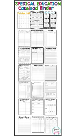 Get organized with all your special education paper work and to-do's with this special education caseload binder! Everything you need in one place! Great for any special education teacher!