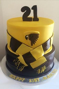 Hawthorn AFL cake guy cake sugar | Gallery