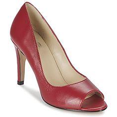 Jamais escarpin n'aura eu l'air aussi tendance que le Elordi façonné par l'incomparable BT London. La marque a opté pour une tige en cuir de couleur rouge qui saura facilement mettre en valeur votre look. Il joue sur une hauteur de talon  de 9 cm associée à une semelle en synthétique.   Et Dieu créa l'escarpin ! - Couleur : Rouge - Chaussures Femme 89,99 €