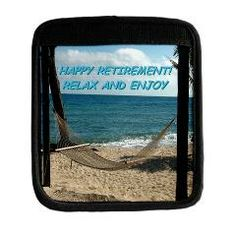 Happy Beach Retirement Luggage Handle by Khoncepts. Great gift, can be used in a variety of creative uses such as incorporate into a gift bow for the Retiree's present