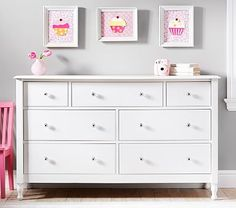 Juliette Extra Wide Dresser #pbkids.  I order this for my daughters room.  It won't be delivered until almost two months.  :/  It will  give me time to get other things in order for her room.