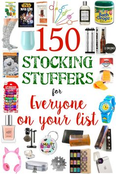 Best Stocking Stuffers for Everyone on Your List - Bless'er House A list of 150 best stocking stuffers for men, women, and kids for Christmas gifts. Stocking Stuffers For Adults, Stocking Stuffers For Kids, Christmas Stocking Stuffers, Stocking Fillers For Men, Diy Christmas Gifts For Family, Christmas Mom, Awesome Christmas Gifts, Womens Christmas Gifts, Christmas Ideas