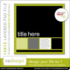Design Your Life Layered Template No. 01 - Digital Scrapbooking Templates - Cathy Zielske