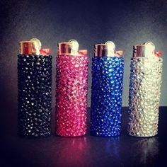 Bling crystal BIC lighter new full size by BlingIsTheNewBlack