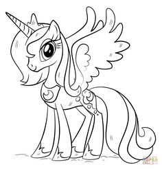 princess luna my little pony coloring pages printable and coloring book to print for free. Find more coloring pages online for kids and adults of princess luna my little pony coloring pages to print. Elsa Coloring Pages, Mermaid Coloring Pages, Princess Coloring Pages, Coloring Pages For Girls, Cartoon Coloring Pages, Free Printable Coloring Pages, Coloring For Kids, Coloring Books, Colouring