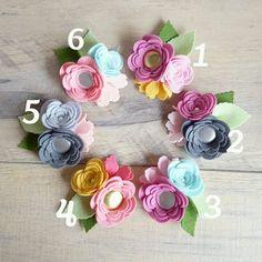 Dainty - Hairclips / Headband / Felt Flower / Felt Clip / Floral Headband…
