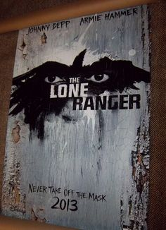 THE LONE RANGER Starring Johnny Depp & Armie Hammer Original 27X40 Movie Poster