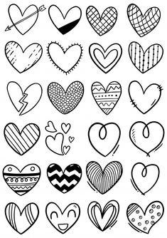 Bullet Journal Notes, Bullet Journal School, Bullet Journal Banner, Easy Doodle Art, Zen Doodle, Heart Doodle, Doodle Frames, Magazine Crafts, Hand Lettering Alphabet