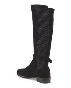 Fabianelli Suede(Leather) And Synthetic Stretch Knee High Riding Size Es 36(Good For Size 7) Black Boots Size: 7  44% off Retail WAS $350.00 NOW  $195.00