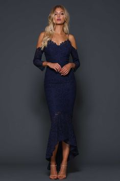 Ivy French Navy Dress By Elle Zeitoune