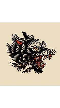 Wolf Tattoos, Black Tattoos, Body Art Tattoos, Tattoo Drawings, Sleeve Tattoos, Leg Tattoos, Tattoo Ink, Wolf Tattoo Traditional, Traditional Tattoo Inspiration