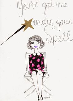 Bewitched by Ileana Perez-Monroy Gel pen Illustration.
