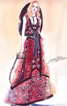 Fashion illustration Fashion Images, Fashion Art, Fashion Beauty, Girl Fashion, Fashion Outfits, Fashion Design Portfolio, Fashion Design Drawings, Fashion Sketches, Fashion Illustrations