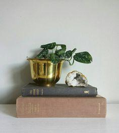 Brass Planter Mid Century Planter Gold Planters Brass Container Brass Pot Brass Vase Decorative Planters Small Planter Brass Urn Hollywood Regency by ShopMidCenturyModest