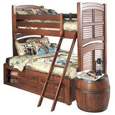 Adorable pirate bunk bed for little boys :)