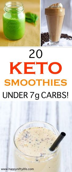 Smoothies that are actually KETO! And some are under 4g net carbs- I love the strawberry low carb smoothie. #ketorecipes #ketosmoothies #ketogenicdiet