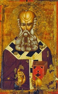 St Athanasios. Late 14th c. - early 15th c. Kastoria Byzantine museum, Kastoria, Greece.
