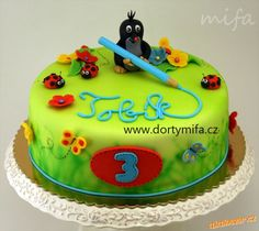 the little Mole. the little Mole. There krtek. The little mole. Royal Icing Cakes, Fondant Cakes, Cupcake Cakes, Cupcakes, Single Tier Cake, Funny Cake, Cake Central, Baby Cakes, Gum Paste