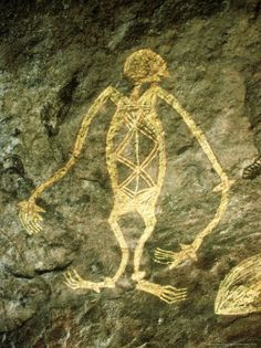 Untitled — Aboriginal cave painting AustraliaYou can find Cave painting and more on our website. Dibujos Dark, Paleolithic Art, Arte Alien, Cave Drawings, Aboriginal Painting, Art Premier, Australian Art, Indigenous Art, Ancient Aliens