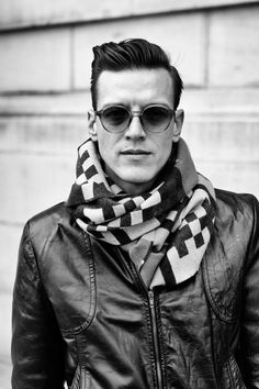 Love the glasses....AND the scarf