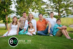 #ericaerckphotography Family of 7 Photos by Erica Erck Photography