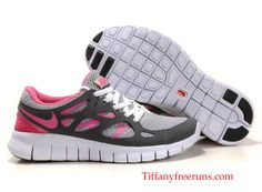 cheap for discount 4ecce 0c846 Nike Free Run 2 Womens White Dark Grey Pink Nike Gratis Sko, Løbesko Nike,