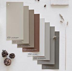 Nina Holst: Check out new Color Chart for 2018 and my personal favorites on // . Paint Color Palettes, Colour Pallette, Exterior Colors, Exterior Paint, Jotun Lady, Norwegian Wood, Best Paint Colors, Color Swatches, Decoration