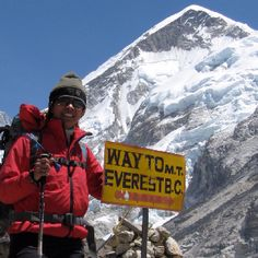 "Pinner's caption: ""Climbing world's tallest mountain- Mt Everest!"" -- For use with Jon Krakauer's ""Into Thin Air"" (non-fiction)"