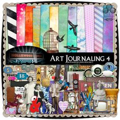 This is incredible cool stuff!!! A website to buy premade art journaling packs!!! Visit Deviant Scrap