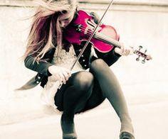 Making beautiful pink music...