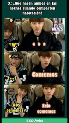 Read Parte 7 from the story MeMes EXO 2 by (ximena quimi) with reads. Kaisoo, Chanbaek, Chanyeol, Bts Predebut, Kyungsoo, Memes Exo, Blackpink Memes, Bts Memes Hilarious, Namjin