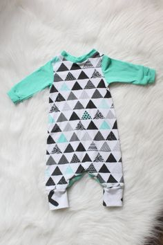 Baby Boy Romper / Newborn / Coming Home Outfit by tinyhinythreads