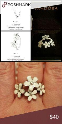 Pandora rings Genuine Pandora stackable Darling Daisy rings Pandora Jewelry Rings