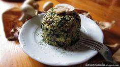 Kaszomania - pomysły na dania z kaszy jaglanej: Kasza jaglana z pieczarkami i szpinakiem