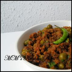Keema Matar. (I'm substituting lamb for the goat in this recipe)