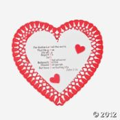 "John 3:16 for valentine  ""John 3:16"" Valentine Craft Kit. A fun craft for church groups! Make a valentine for a Sunday School teacher or clergy member! Includes paper doily and foam pieces. 6"" All craft kit pieces are pre-packaged for individual use. Kits include instructions and extra pieces"