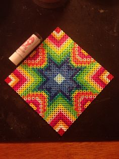Starburst square perler beads by Katie Binesh