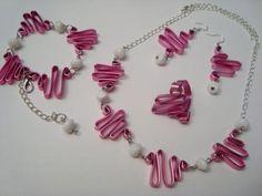 Conjunto alambre plano rosa